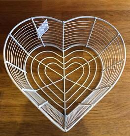 Love Heart Wire Basket.