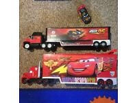 Disney Cars McQueen Mack trucks