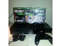 Xbox one console plus 8 games and extras