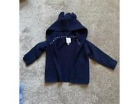 Boys hooded cardigan 3-6 months