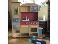 Little Tikes wooden kitchen with accessories