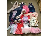 Girl's clothes bundle size 9-12months 23 items.