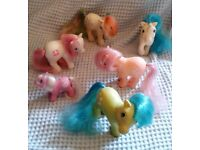 Collection of 6 Original (Generation 1) My Little Ponies. (Good Condition)