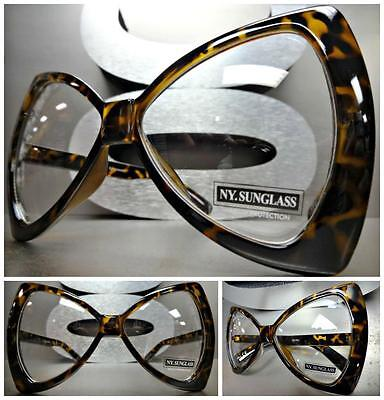 Übergröße Übertrieben Riesig Klar Gläser Brillen Unique Schleife Form Mode Frame