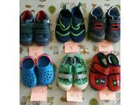 Selection of boys shoes including Clarks.