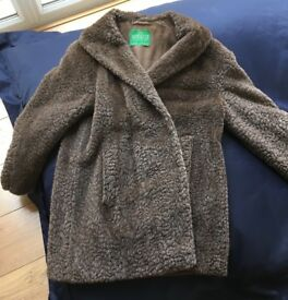 Vintage faux fur Motoluxe car coat.