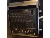 Mackie CFX12 MKii 12 channel desk, and flight case