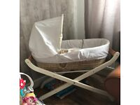 Mothercare Moses basket and deluxe stand
