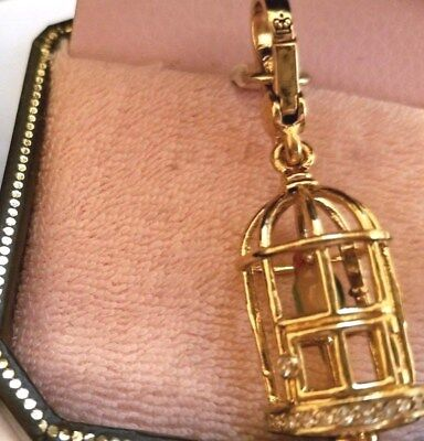 NEW IN BOX NWT Juicy Couture Charm Bird Cage Mirror Parrot Birdcage ORIG Tags