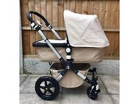 Stunning Bugaboo Cameleon 3rd Generation in Off white and Sand + accessories
