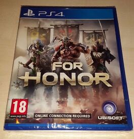 **SEALED** FOR HONOR PS4 GAME BRAND NEW FOR PLAYSTATION 4. LATEST GAME