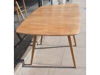 Vintage 1960s Ercol drop leaf rectangular Elm & Beech dining table