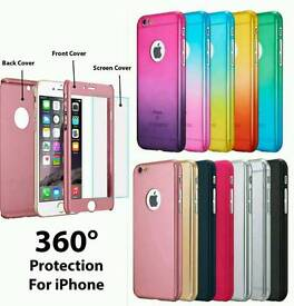 Hybrid 360 hard ultra thin case + glass screen protector.