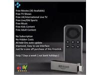Amazon Fire Stick (Delivery available) Fully Loaded with Kodi + Mobdro + MovieBox + Aptoide
