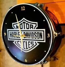 Harley Davidson drum clock
