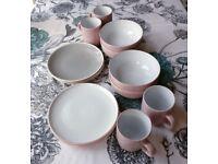 Blush and Grey Tableware Set