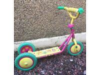 Barney design 3 wheel Scooter