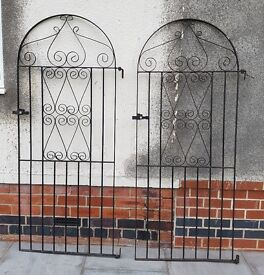 PAIR OF METAL GATES