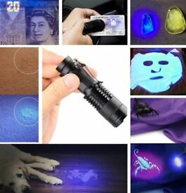 UV Torch,Black Light Torches Small Hand Held Ultraviolet 395nm LED Flashlight