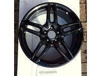x1 Genuine Mercedes AMG 5x112 18x7.5J W176 Gloss Black Alloy Wheel A1764010700