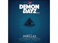 One ticket Gorillaz Demon dayz Festival