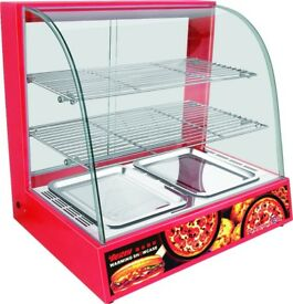 Desktop BRAND NEW COMMERCIAL PIE WARMING HOT FOOD DISPLAY CABINET LAMP UNIT