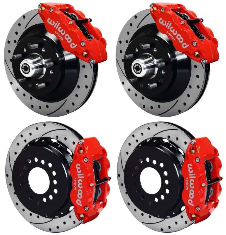 "Wilwood Disc Brake Kit,64-74 Gm,13"" Drilled Rotors,red Superlite Calipers"