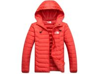 RED NORTHFACE BUBBLE JACKET