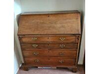 Antique Oak Bureau - Circa Late 18th Century