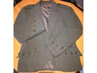 Tweed kilt jacket.