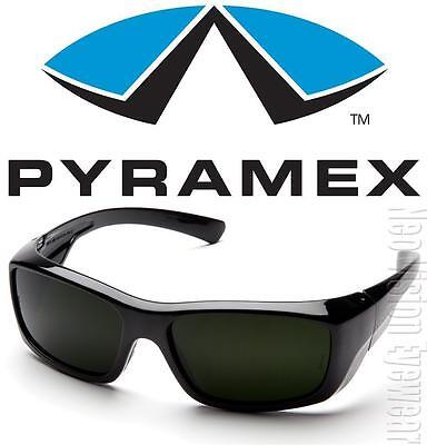 Pyramex Emerge Ir5 Lenses Welding Wrap Black Super Dark Safety Glasses Z87