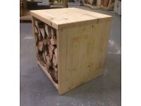 Indoor log box (wood fire fireside timber crate solid fuel storage)