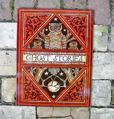 Halloween Tin Sign Ghost Stories Owl Vintage Style New](Ghost Stories Halloween)