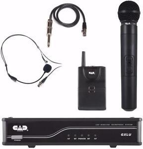 CAD AUDIO GXLUHBK UHF Système de microphone sans fil combo - à main et Bodypack Bande de fréquence K