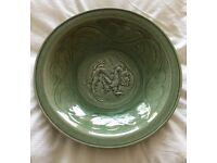 Large Antique Dragon Bowl/Dish
