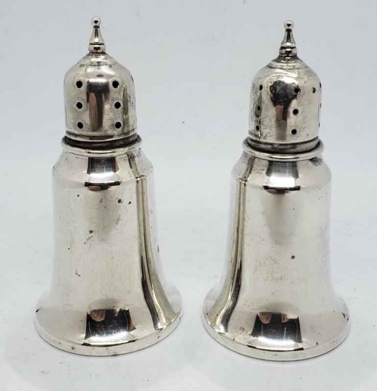 Revere Silversmiths Solid Sterling Salt & Pepper Shakers #803 Unweighted