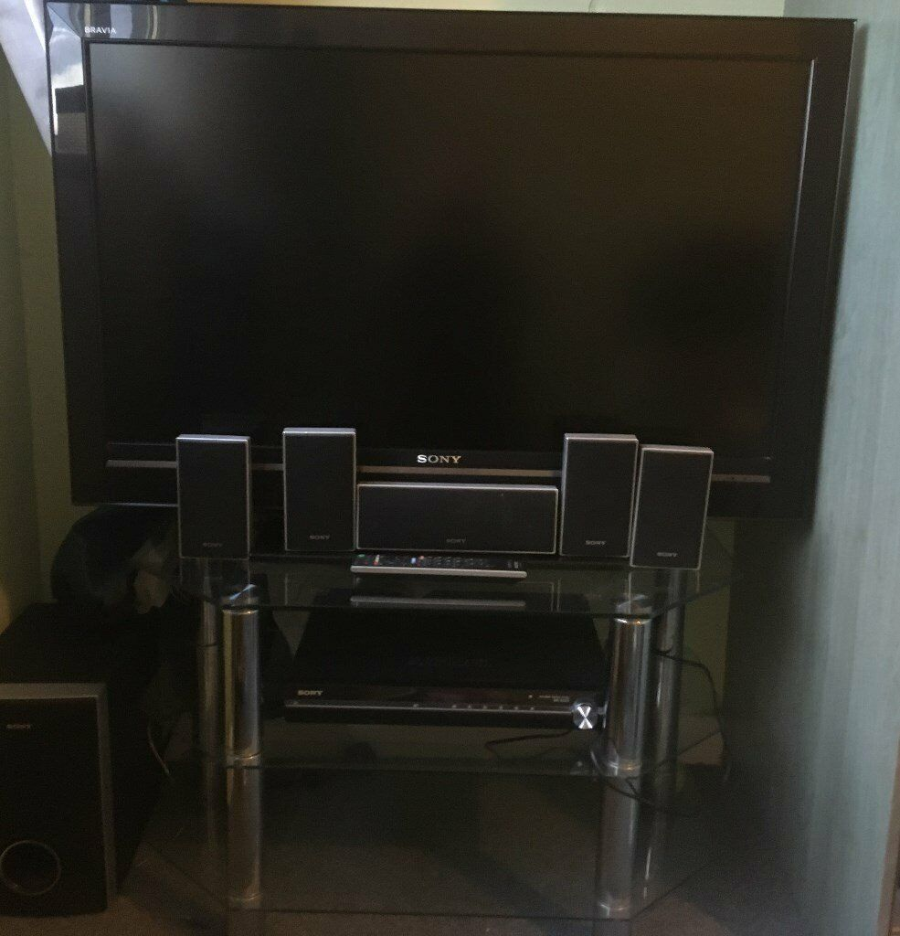 TV (LCD, 40in Sony ) plus Sony DVD player with six speaker system  All  Items in excellent condition | in Bishopbriggs, Glasgow | Gumtree