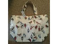 Bird pattern Dickins and Jones wax cloth bag - brand new