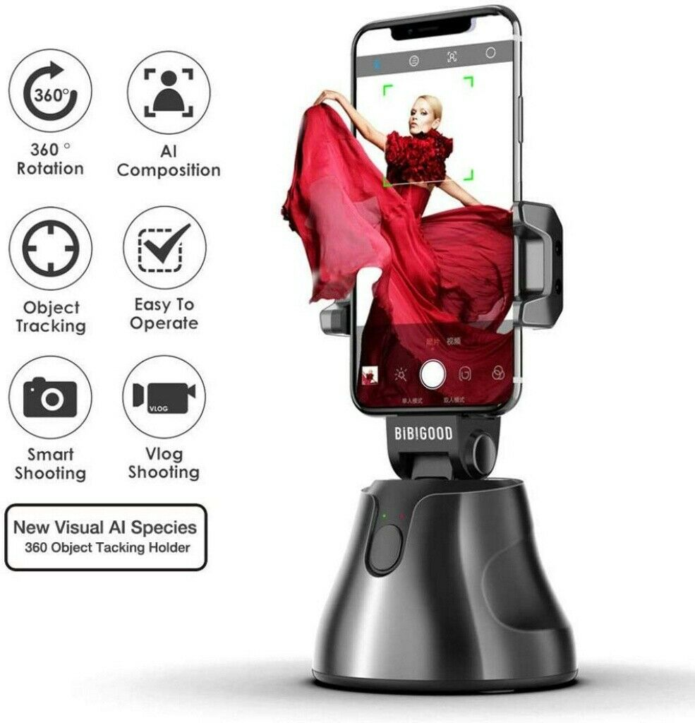 wireless 360rotation face and object tracking smart