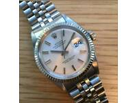 Rolex datejust ref 1601 steel and 14k white gold