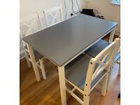 Table and 4 chairs £85