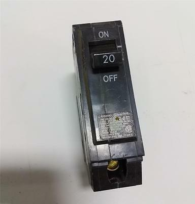 General Electric 20a 1 Pole Circuit Breaker Hacr Ype Thqb 120240vac