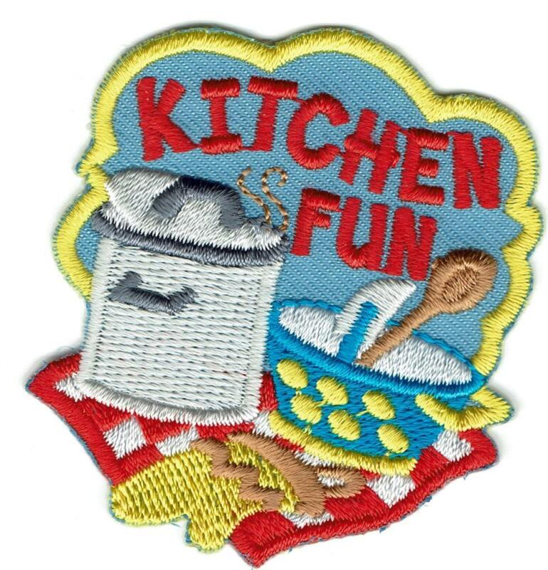 Boy Girl Cub Cooking KITCHEN FUN Baking Fun Patches Badges Crests GUIDES SCOUTS