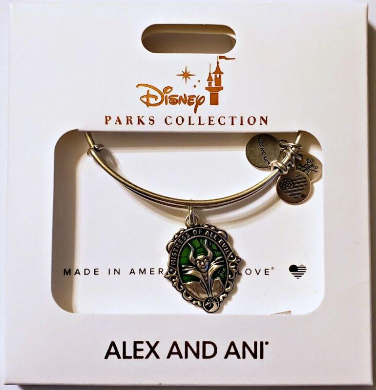 Disney Parks ALEX & ANI bracelet MALEFICENT silver tone - villain - NEW