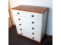 White Wooden Chest of drawers Good Condition