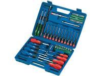 Brand new Draper Screwdriver Set 70 pc Socket Bit Tool Kit Set Precision Mechanics