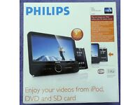 Philips Mobile DVD Entertainment System DCP951 DVD Player/iPOD Dock. Boxed as new. £20