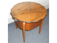 Side Table with Storage, Sewing Box