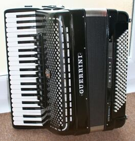 NOW SOLD Guerrini Superior 5, 5 voice accordion. 41 piano keys, 120 bass double cassotto