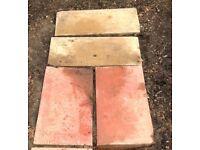 Garden Paving Slabs, 4 Redish, 2 Buff Available £2.50 each